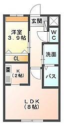 Ys桜坂 Part2[105号室]の間取り
