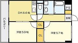 ニューシティアパートメンツ南小倉II[9階]の間取り