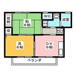 ヴィクトワールA[2階]の間取り