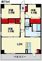 Livableなかま 1階3LDKの間取り