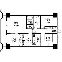 北海道札幌市東区北二十条東1丁目の賃貸マンションの間取り