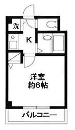 神奈川県横浜市港北区樽町4の賃貸マンションの間取り