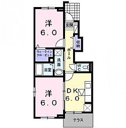 サンファミール3 B[1階]の間取り