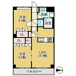 74ビル[302号室]の間取り