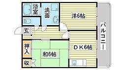 兵庫県姫路市香寺町中屋の賃貸アパートの間取り