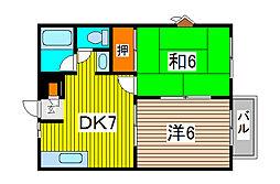 セレニティー渋谷[2階]の間取り