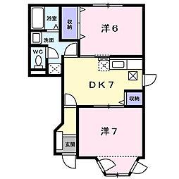 ディアコ−ト[1階]の間取り