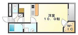 香川県善通寺市善通寺町の賃貸アパートの間取り