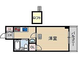ダイユウレストハウス茨木A棟[3階]の間取り