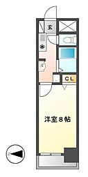 ベル名駅[7階]の間取り