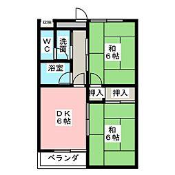 メゾングリ−ンイ−スト[1階]の間取り
