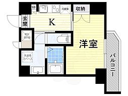 JR東海道・山陽本線 吹田駅 徒歩6分の賃貸マンション 6階1Kの間取り