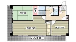 ジークレフ赤坂[207号室]の間取り