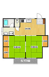 ハイツ川崎[1階]の間取り