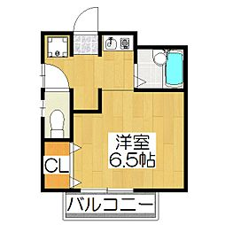 京都府京都市北区小山上総町の賃貸アパートの間取り
