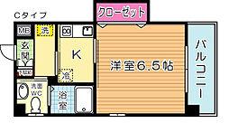 古船場タカヤコーポレーションビル[303号室]の間取り