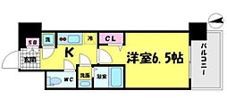 レジュールアッシュ京橋CROSSII[6階]の間取り