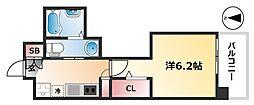 名古屋市営桜通線 高岳駅 徒歩9分の賃貸マンション 4階1Kの間取り