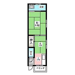 第3昇栄荘[2階]の間取り