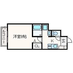 ドルフハイム清福寺[103号室]の間取り
