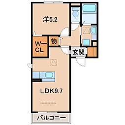 D-room吹上フラッツ[1階]の間取り
