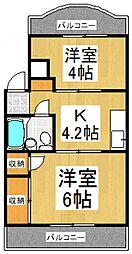 萩山レヂオンス[2階]の間取り