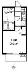 ベルメント平賀[102号室号室]の間取り