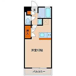 ファミリーマンション 5階ワンルームの間取り