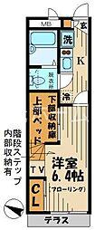 東京都東久留米市野火止3丁目の賃貸アパートの間取り