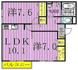 ステラ前ヶ崎[3階]の間取り
