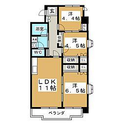 第5ジーオンビル[3階]の間取り