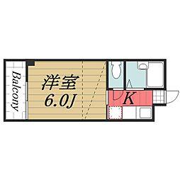 千葉県千葉市稲毛区天台2丁目の賃貸マンションの間取り