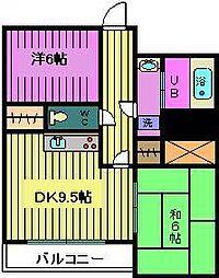 トキ壱番館[8階]の間取り