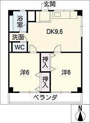 津IN COURT練木サウスコート[1階]の間取り