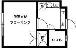 埼玉県さいたま市見沼区東大宮6丁目の賃貸アパートの間取り