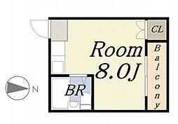 No.4三先ハウス[4階]の間取り