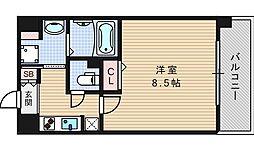 プロシード本町西セレーノ[6階]の間取り