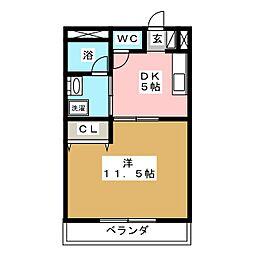 ピュアレ[1階]の間取り