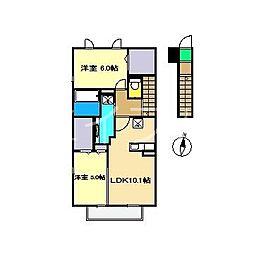 ウィル横町[2階]の間取り