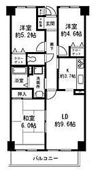 カーサホーチカタノ[2階]の間取り