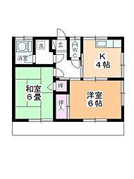 原田荘[101号室]の間取り