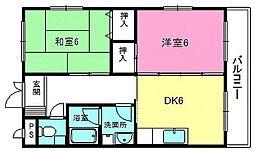 滋賀県湖南市夏見の賃貸アパートの間取り