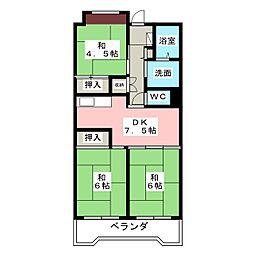 ビレッジハウス笠寺タワー[13階]の間取り