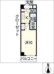 ホワイトプラネット[1階]の間取り