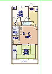 レジデンス鶴見緑地[8階]の間取り