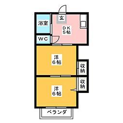 コーポ和気[2階]の間取り
