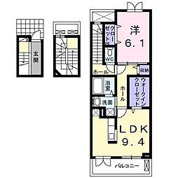 マイズ[3階]の間取り