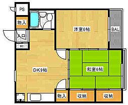 東京都中野区中野4丁目の賃貸マンションの間取り