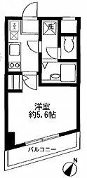 マリオン新宿河田[4階]の間取り