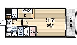 ノルデンハイム新大阪2[10階]の間取り